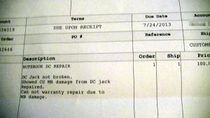 Repair Sheet